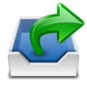 128x128px size png icon of Places mail folder outbox
