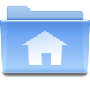 128x128px size png icon of Places user home