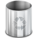128x128px size png icon of Places user trash