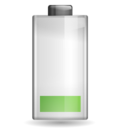 128x128px size png icon of Status battery caution