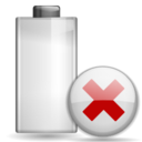 128x128px size png icon of Status battery missing