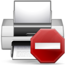 128x128px size png icon of Status printer error