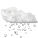 128x128px size png icon of Status weather hail