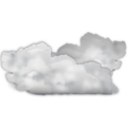 Status weather many clouds Icon