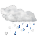 128x128px size png icon of Status weather snow rain