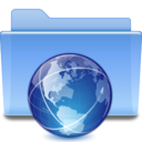 128x128px size png icon of Places folder remote