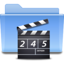 128x128px size png icon of Places folder video