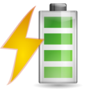 128x128px size png icon of Status battery charging