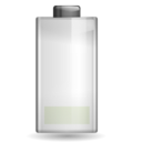 128x128px size png icon of Status battery low