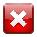 128x128px size png icon of Status dialog error
