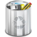 128x128px size png icon of Status user trash full