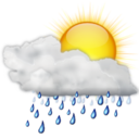 128x128px size png icon of Status weather showers day
