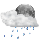 128x128px size png icon of Status weather showers scattered night