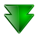 128x128px size png icon of actions arrow down double