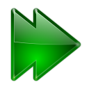 128x128px size png icon of actions arrow right double