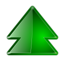 128x128px size png icon of actions arrow up double
