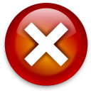 128x128px size png icon of actions dialog close