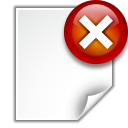 128x128px size png icon of actions document close