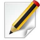 128x128px size png icon of actions document edit