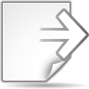 128x128px size png icon of actions document export