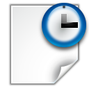 128x128px size png icon of actions document open recent