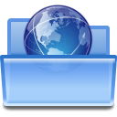 128x128px size png icon of actions document open remote