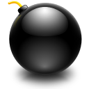 128x128px size png icon of actions edit bomb
