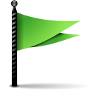 128x128px size png icon of actions flag