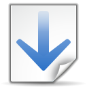 128x128px size png icon of actions go down search
