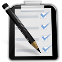 128x128px size png icon of actions mail mark task