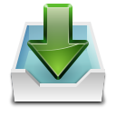 128x128px size png icon of actions mail receive