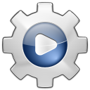 128x128px size png icon of actions system run