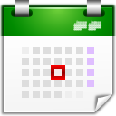 128x128px size png icon of actions view calendar day
