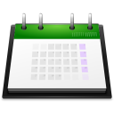 128x128px size png icon of apps office calendar