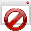 128x128px size png icon of apps preferences web browser adblock