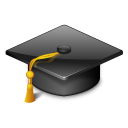 128x128px size png icon of categories applications education university