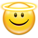 128x128px size png icon of emotes face angel