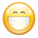 128x128px size png icon of emotes face smile big