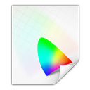 128x128px size png icon of mimetypes application vnd iccprofile