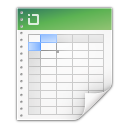 128x128px size png icon of mimetypes application vnd ms excel