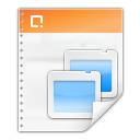 128x128px size png icon of mimetypes application vnd ms powerpoint