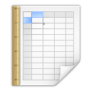 mimetypes application vnd oasis opendocument spreadsheet template Icon
