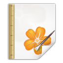 128x128px size png icon of mimetypes application vnd sun xml draw template