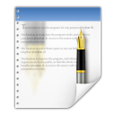 128x128px size png icon of mimetypes application vnd wordperfect