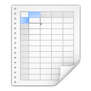 128x128px size png icon of mimetypes application x applix spreadsheet
