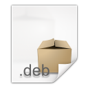 128x128px size png icon of mimetypes application x deb