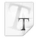 128x128px size png icon of mimetypes application x font ttf