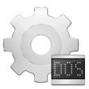 128x128px size png icon of mimetypes application x ms dos executable