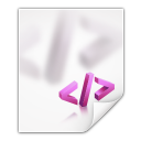 128x128px size png icon of mimetypes application xml