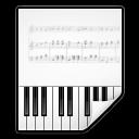 128x128px size png icon of mimetypes audio midi